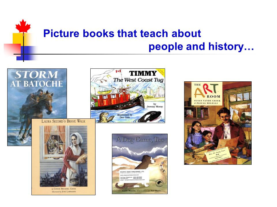 Picture books that teach about people and history…