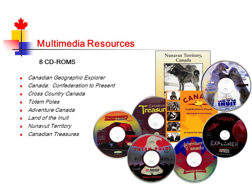 Multimedia Resources 8 CD-ROMS Canadian Geographic Explorer