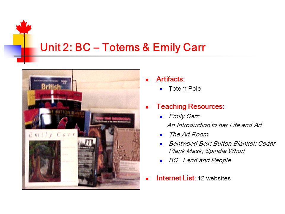 Unit 2: BC – Totems & Emily Carr