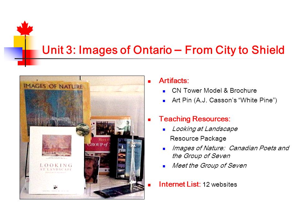 Unit 3: Images of Ontario – From City to Shield