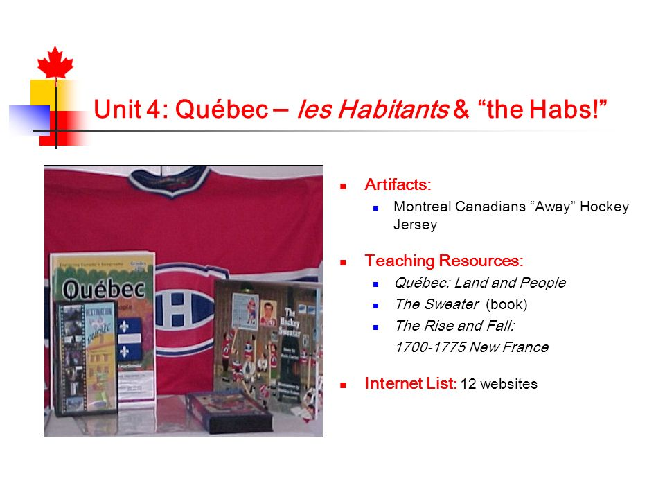 Unit 4: Québec – les Habitants & the Habs!