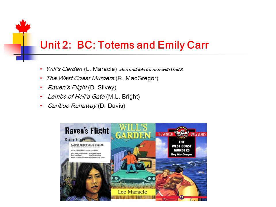 Unit 2: BC: Totems and Emily Carr