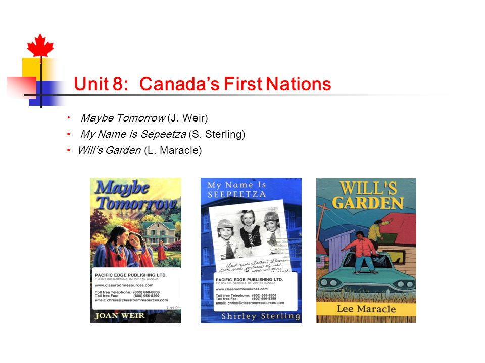 Unit 8: Canada's First Nations