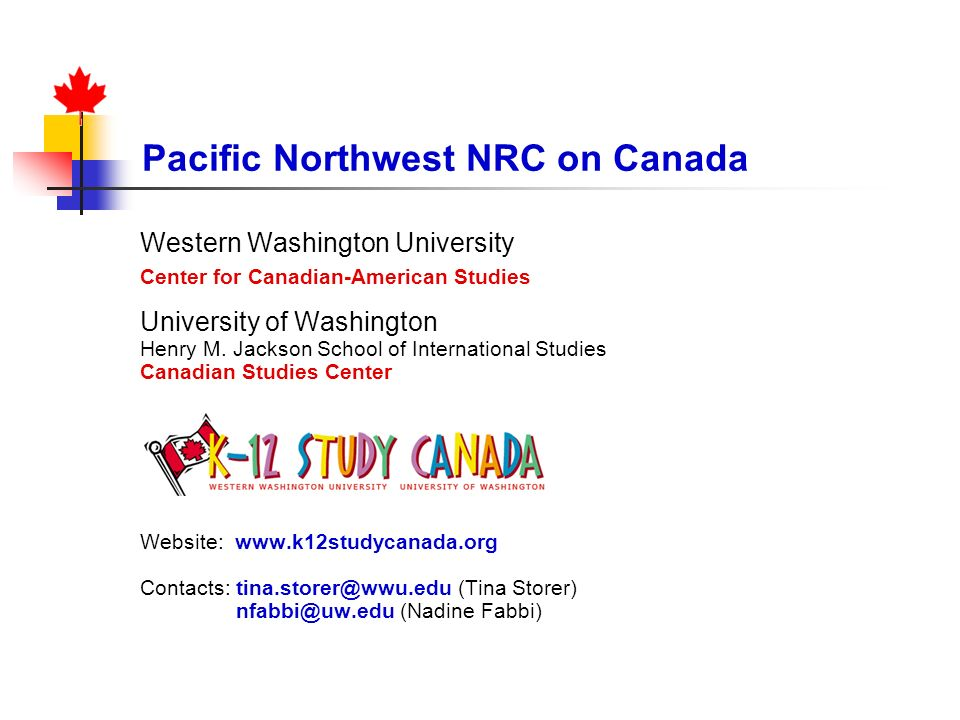 Pacific Northwest NRC on Canada