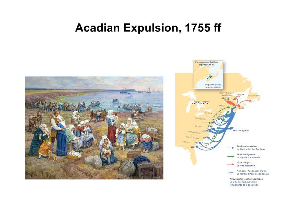 Acadian Expulsion, 1755 ff