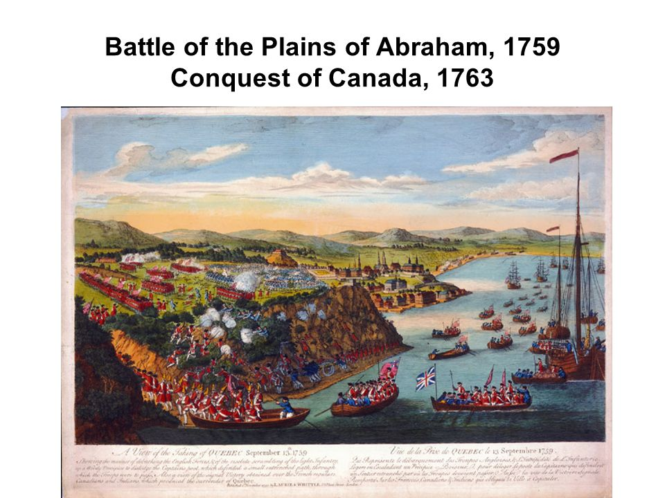 Battle of the Plains of Abraham, 1759 Conquest of Canada, 1763