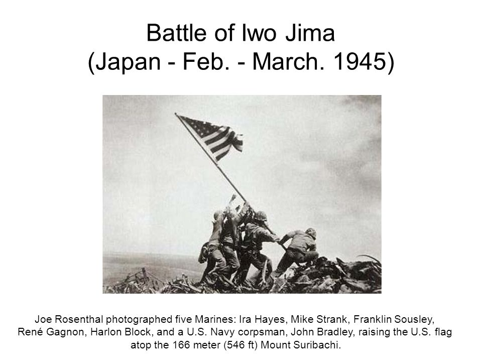 Battle of Iwo Jima (Japan - Feb. - March. 1945)