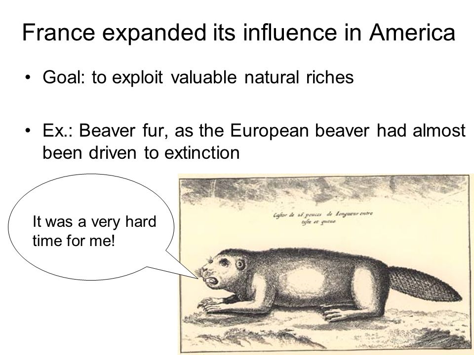 France expanded its influence in America