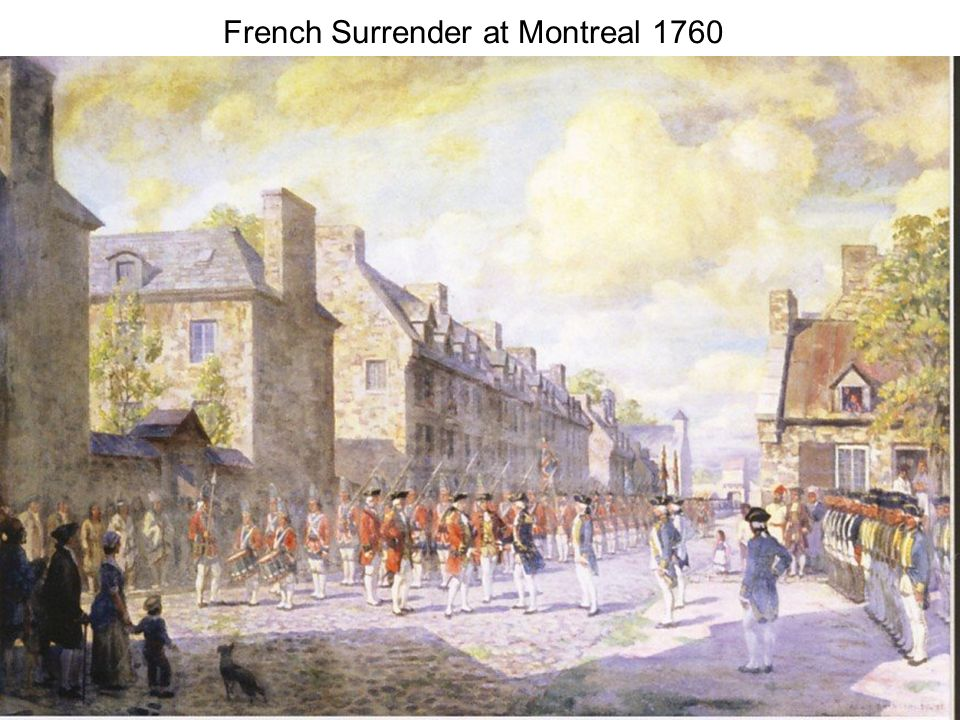 French Surrender at Montreal 1760