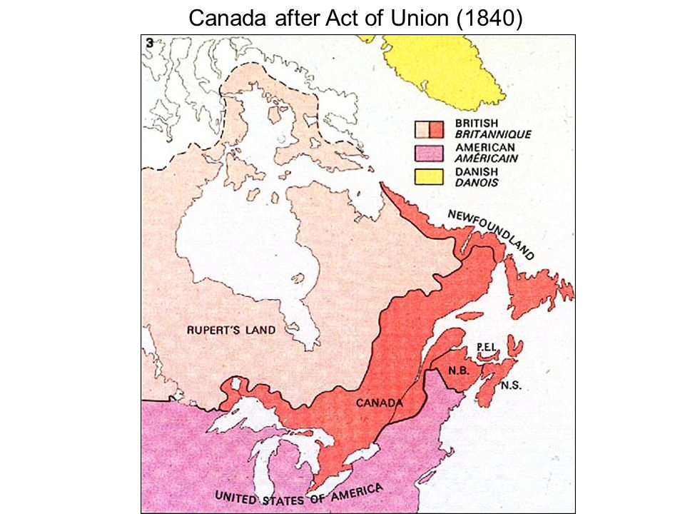 Canada after Act of Union (1840)
