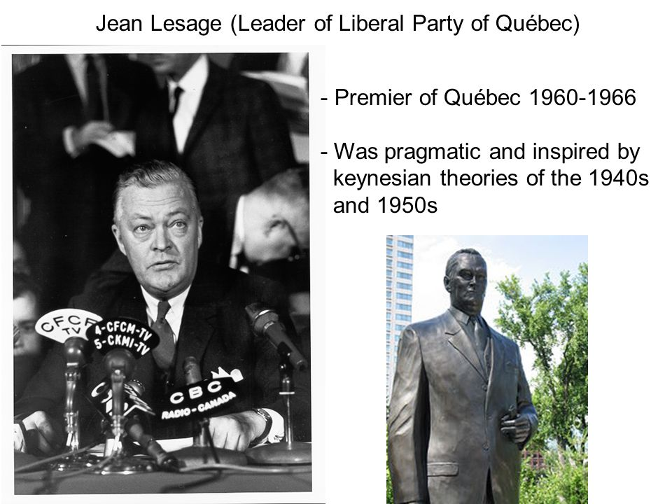 Jean Lesage (Leader of Liberal Party of Québec)