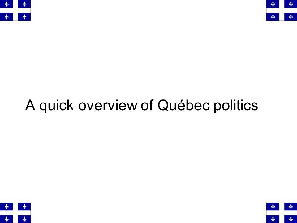 A quick overview of Québec politics