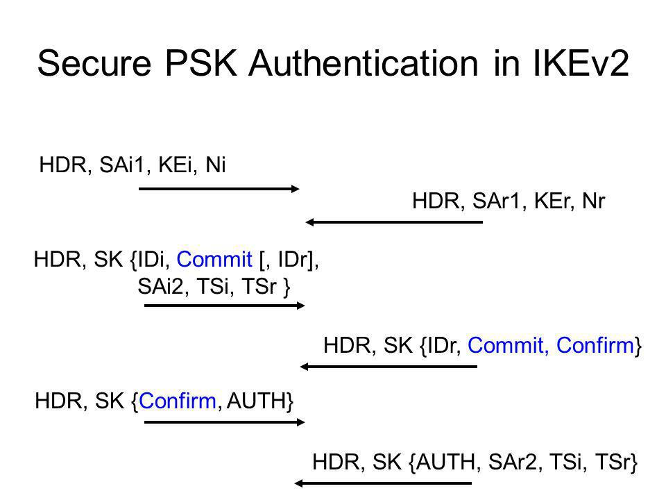Secure PSK Authentication in IKEv2