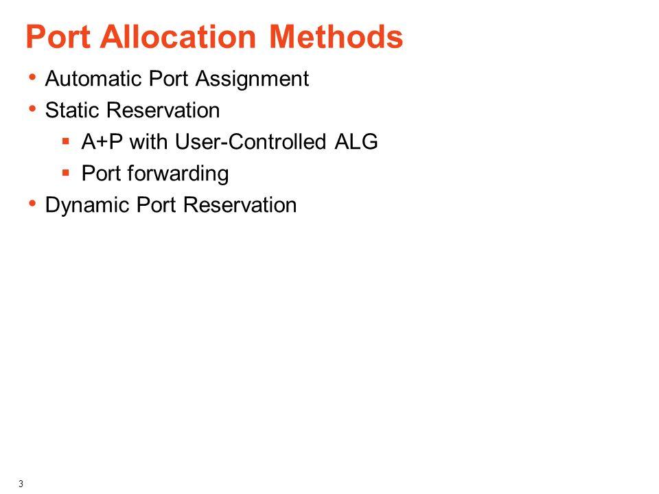 Port Allocation Methods