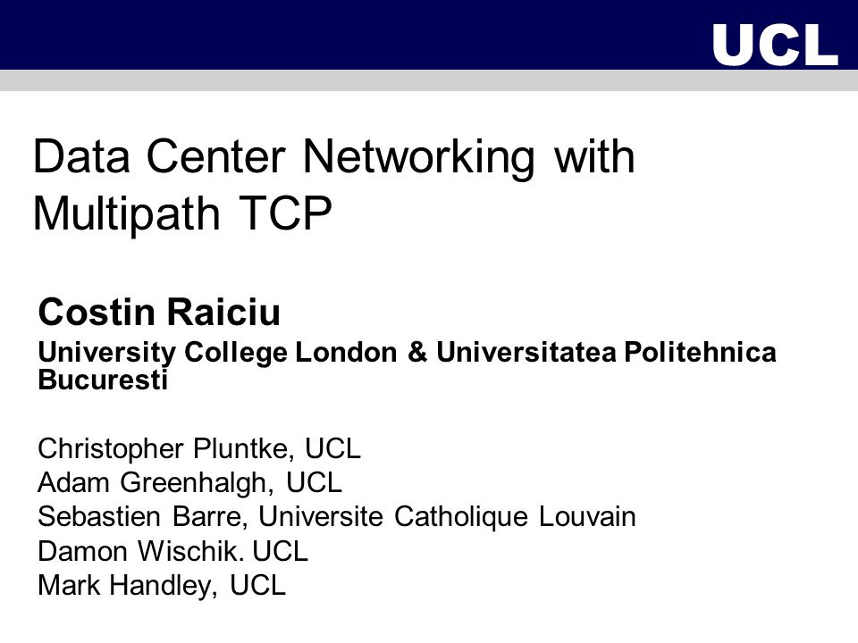 Data Center Networking with Multipath TCP