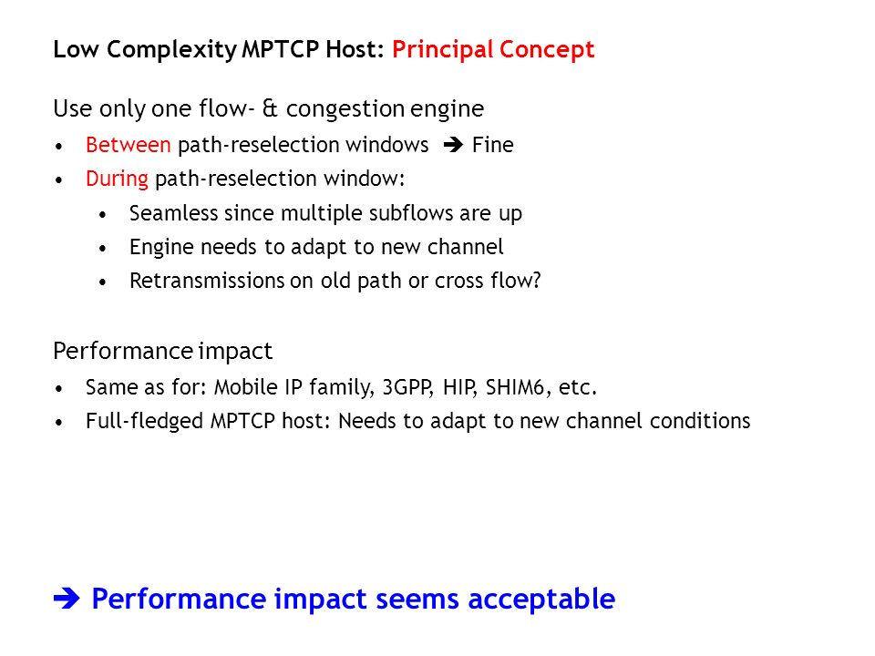  Performance impact seems acceptable