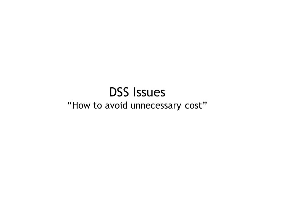 How to avoid unnecessary cost