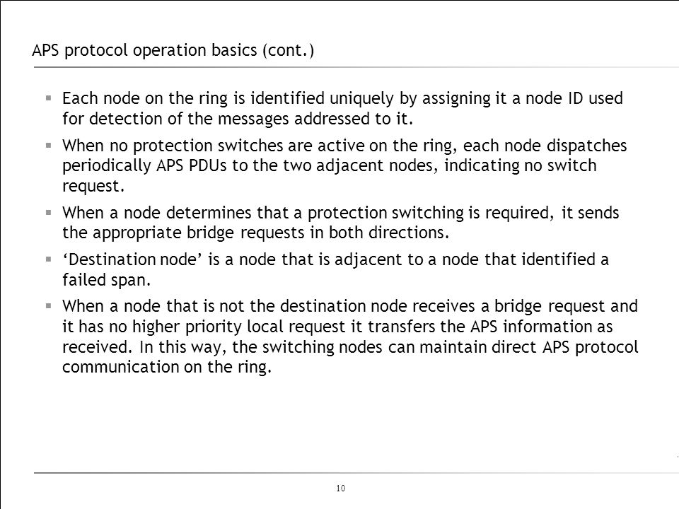 APS protocol operation basics (cont.)