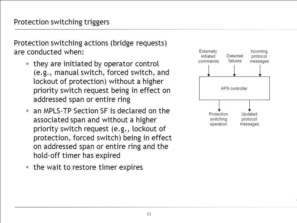 Protection switching triggers