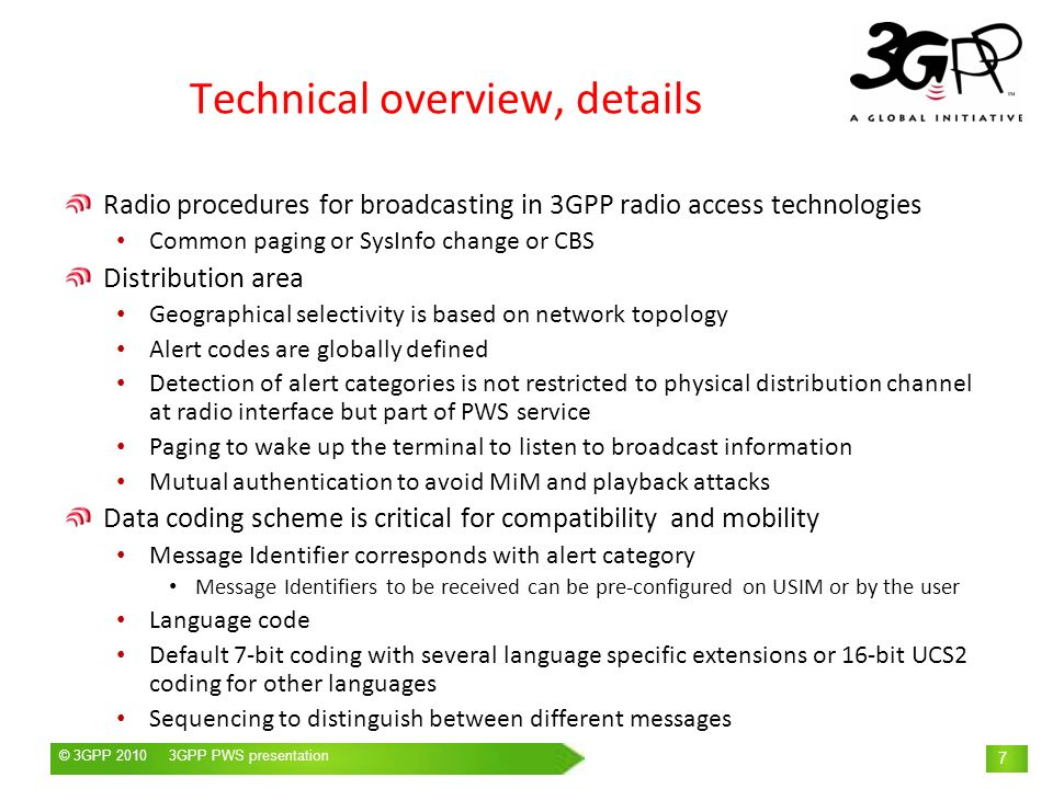 Technical overview, details