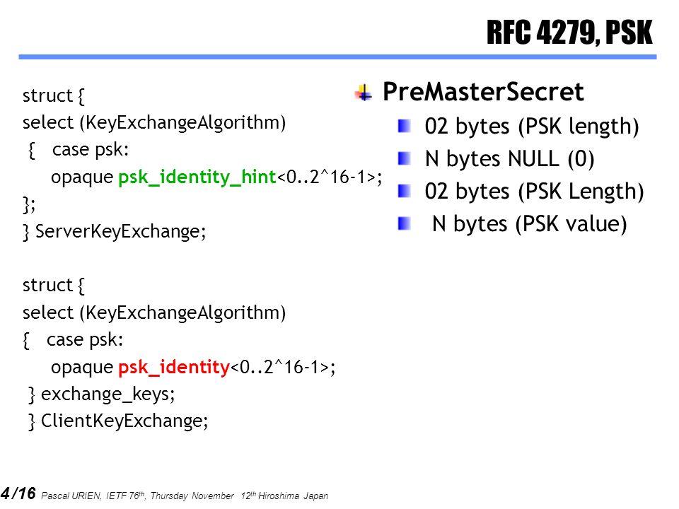 RFC 4279, PSK PreMasterSecret 02 bytes (PSK length) N bytes NULL (0)