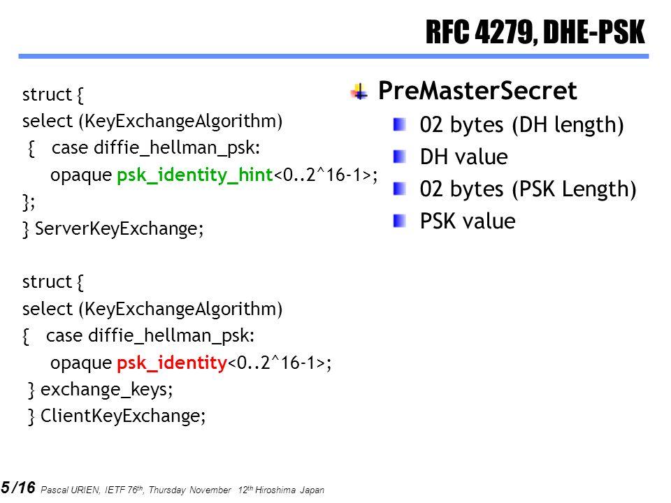 RFC 4279, DHE-PSK PreMasterSecret 02 bytes (DH length) DH value
