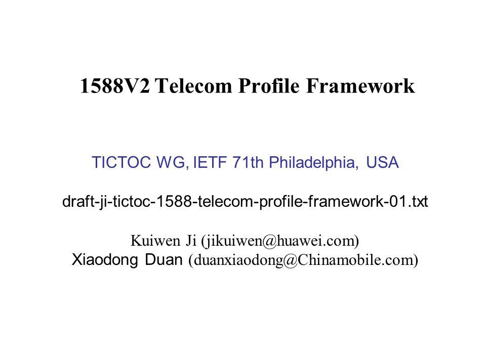 1588V2 Telecom Profile Framework
