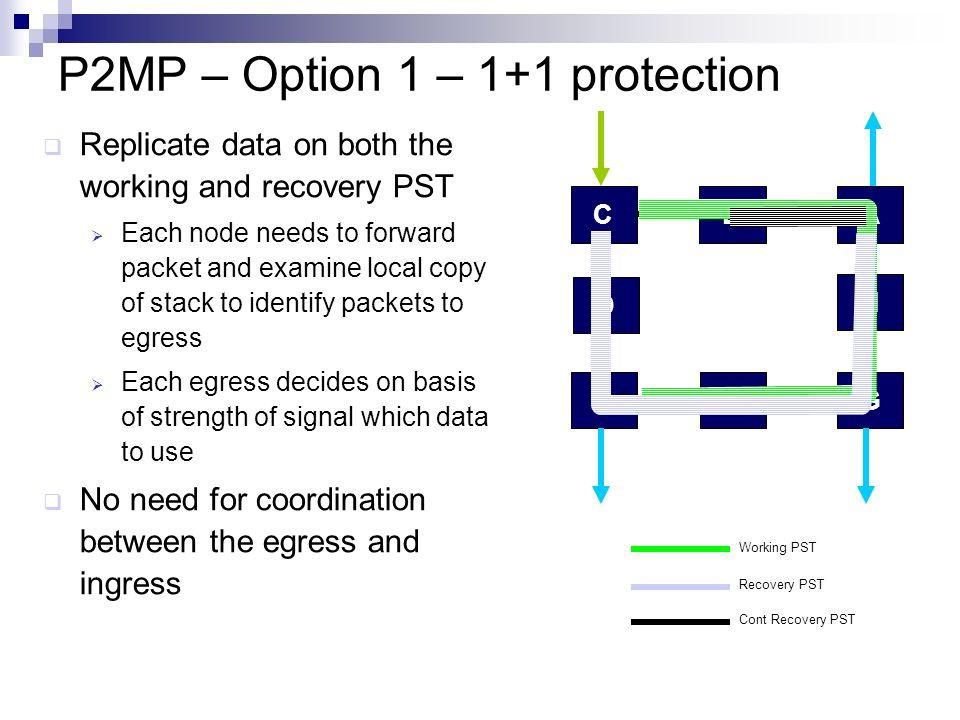 P2MP – Option 1 – 1+1 protection