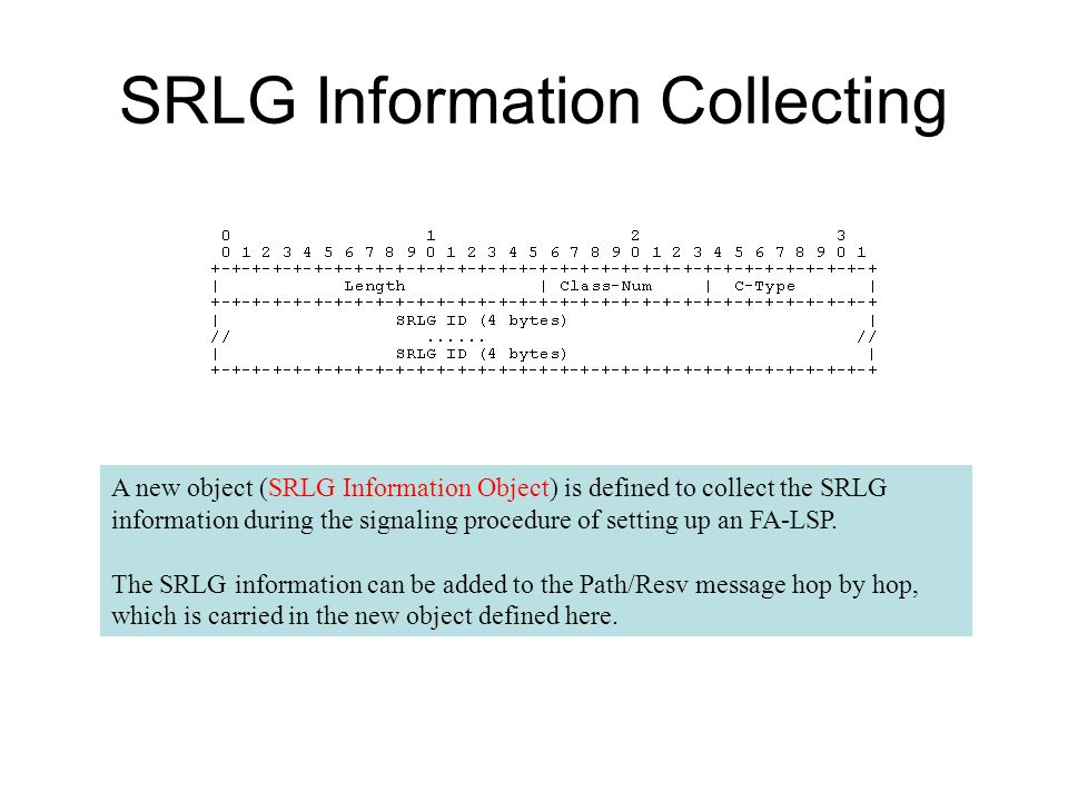 SRLG Information Collecting