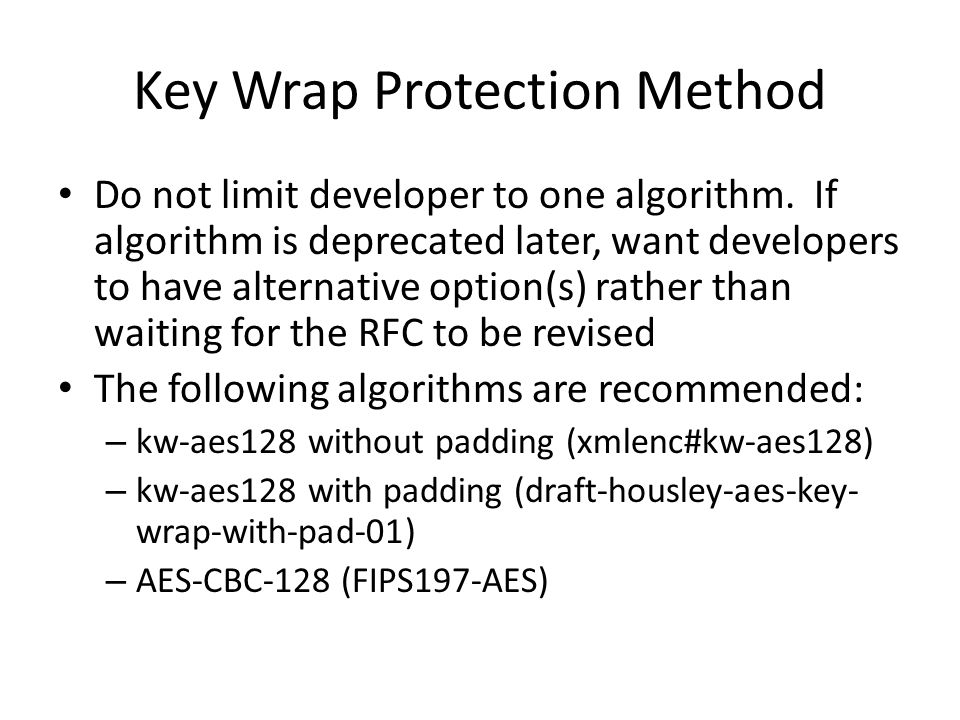 Key Wrap Protection Method