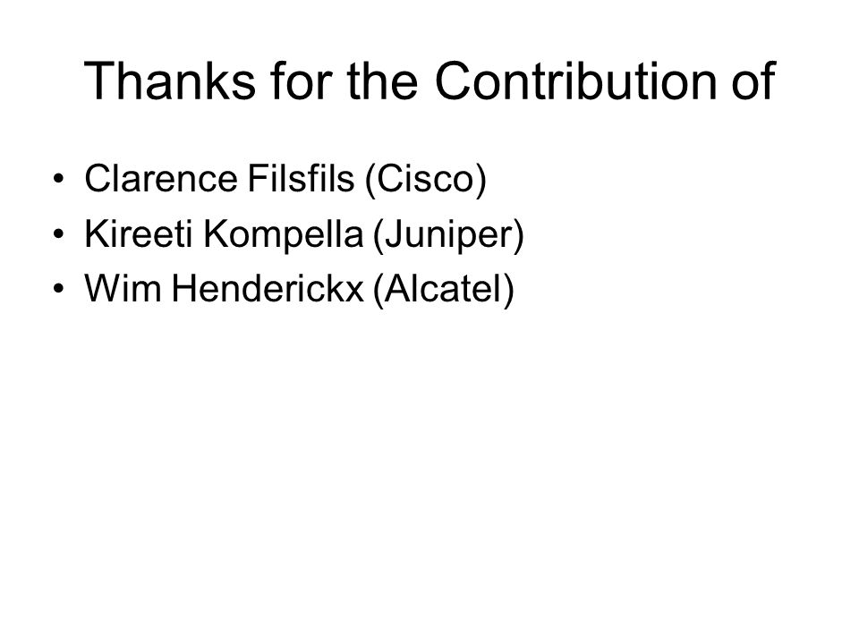 Thanks for the Contribution of