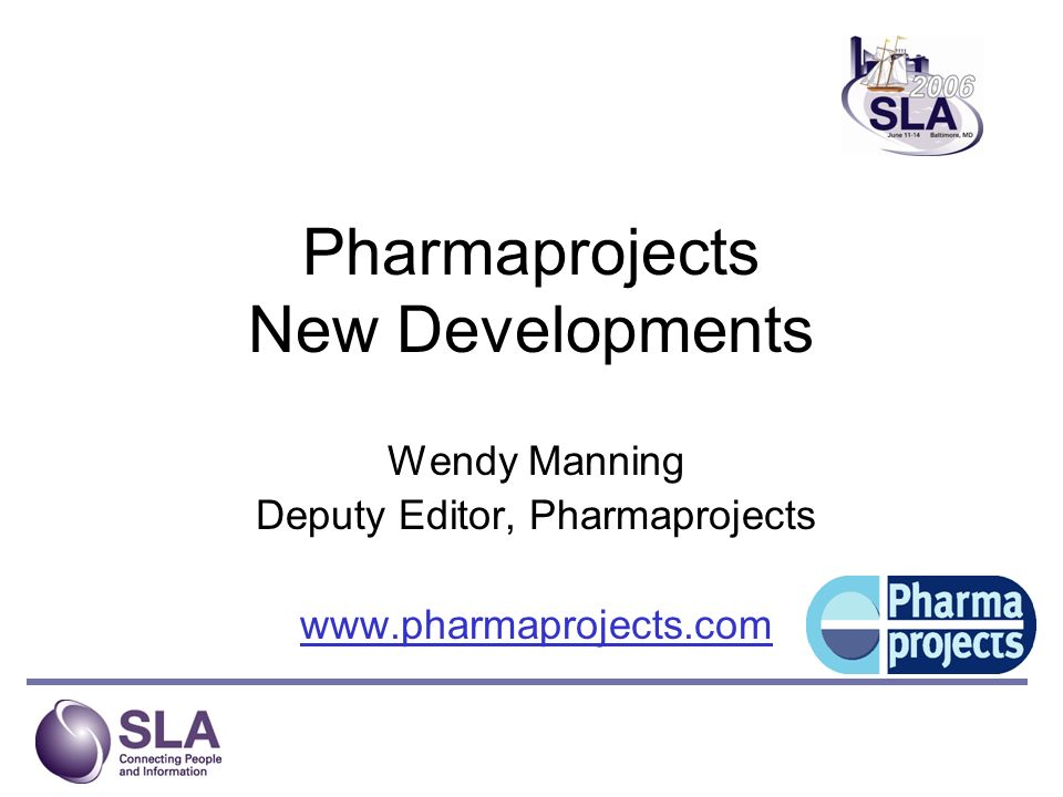 Pharmaprojects New Developments
