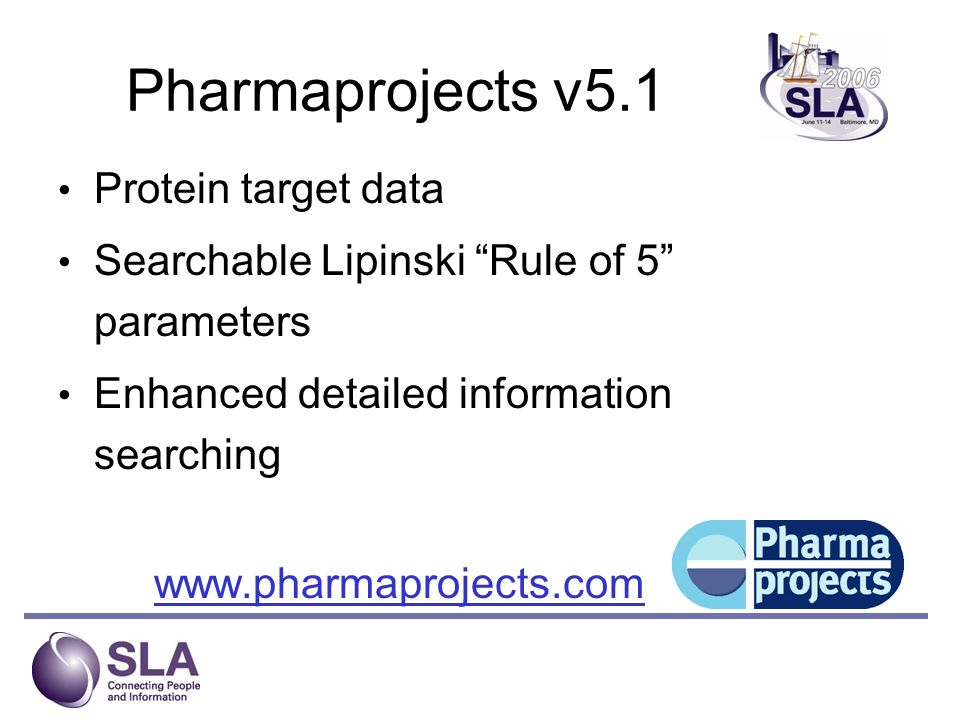 Pharmaprojects v5.1 Protein target data