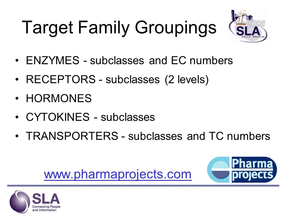 Target Family Groupings