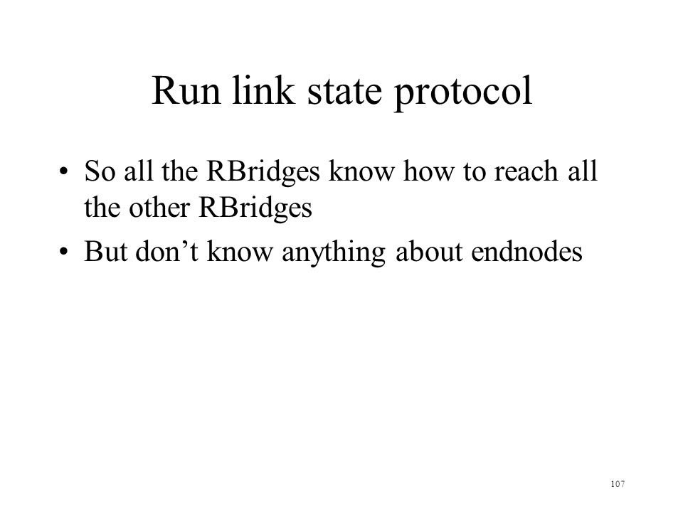 Run link state protocol