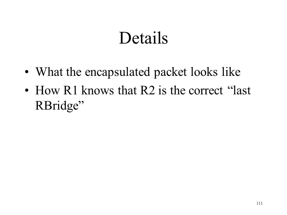 Details What the encapsulated packet looks like