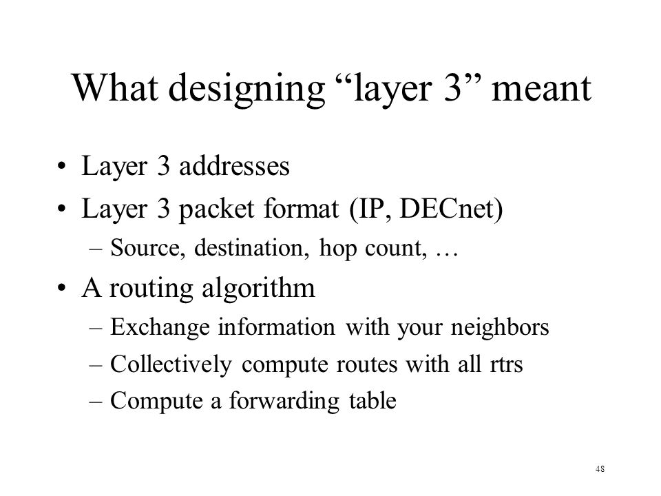 What designing layer 3 meant