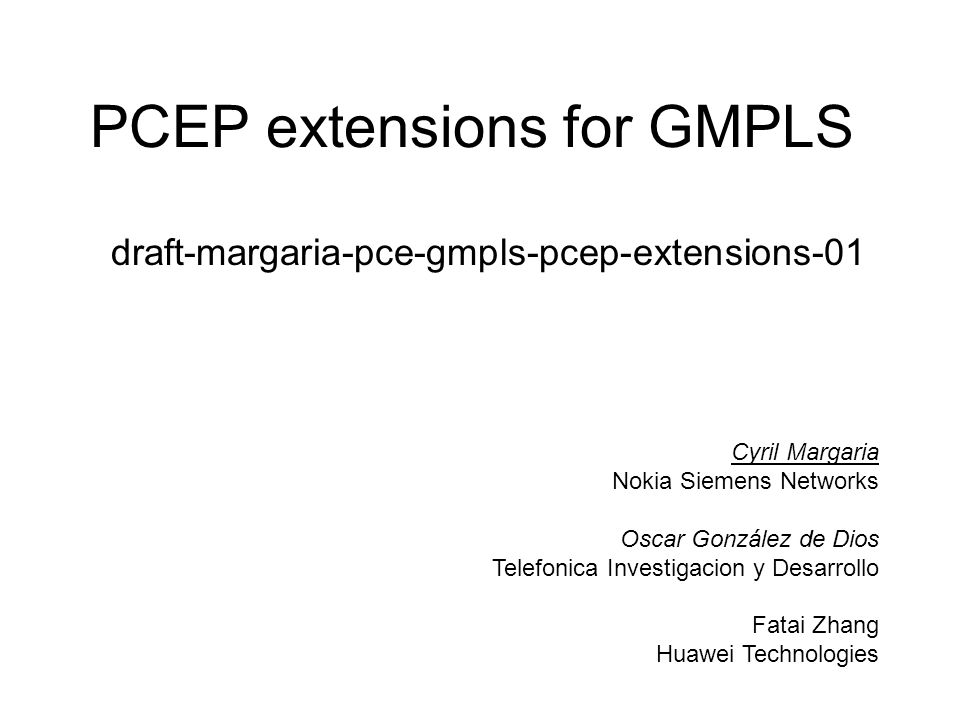 PCEP extensions for GMPLS