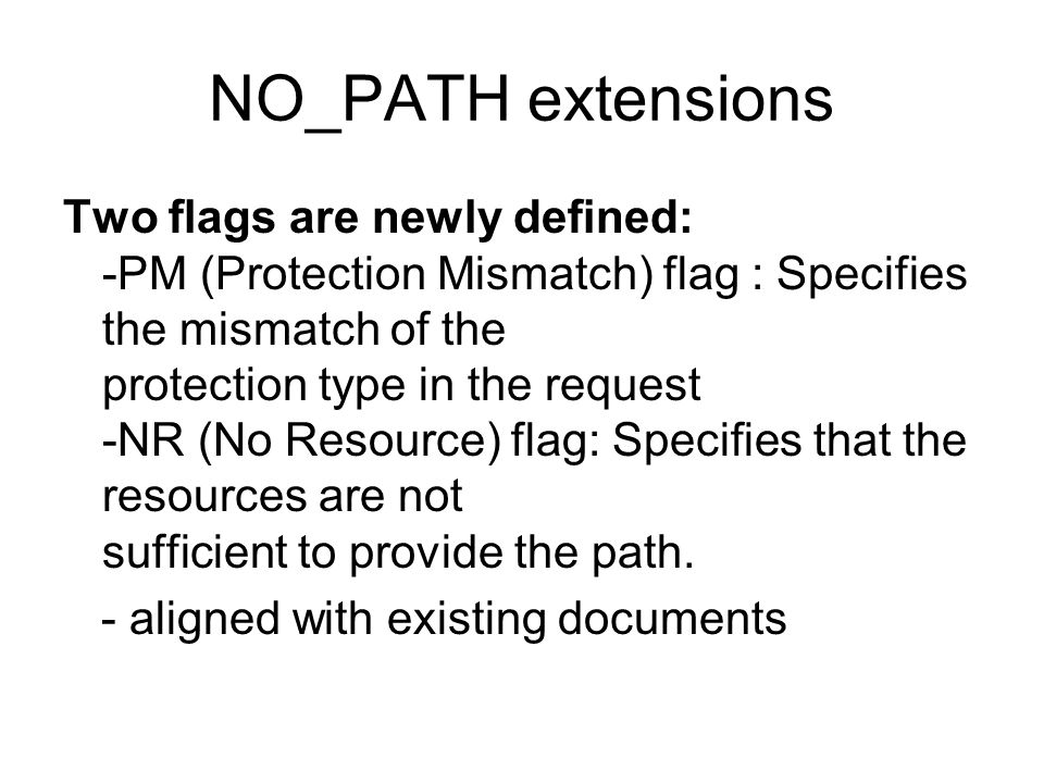 NO_PATH extensions