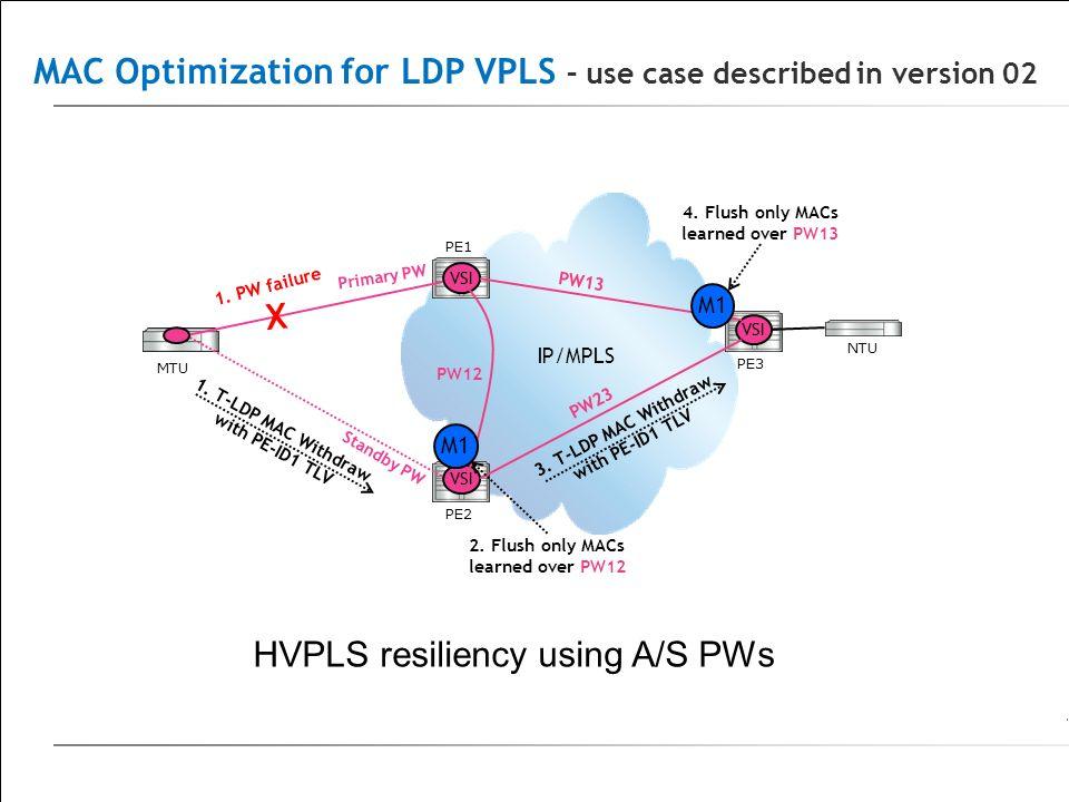 MAC Optimization for LDP VPLS – use case described in version 02