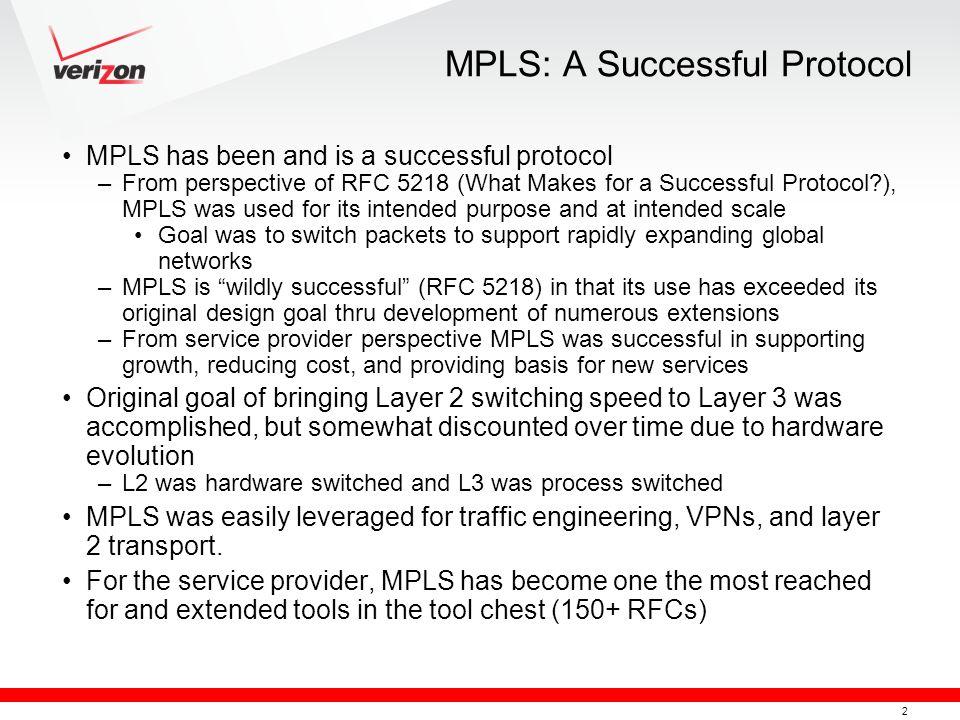 MPLS: A Successful Protocol