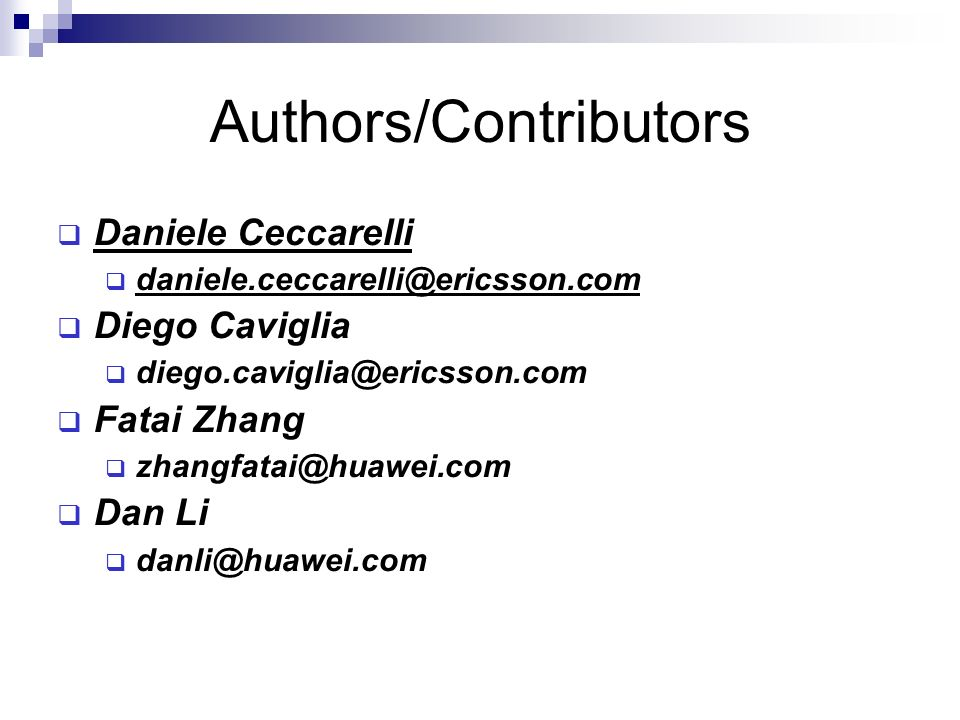 Authors/Contributors