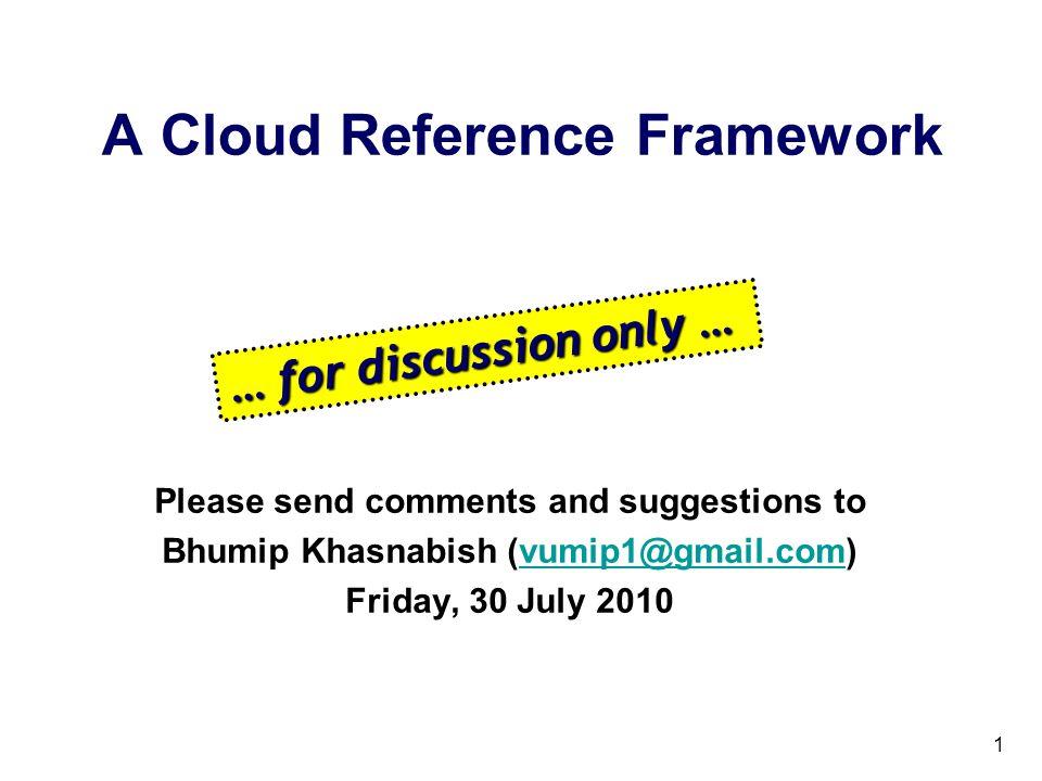A Cloud Reference Framework