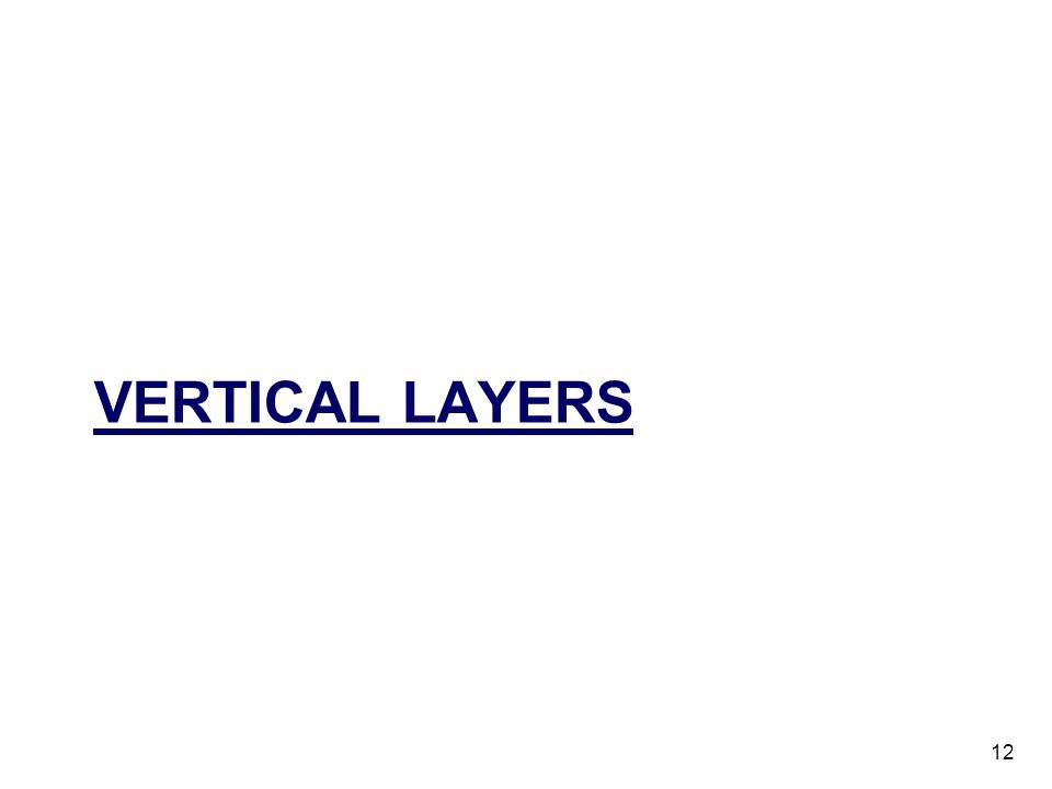 Vertical layers