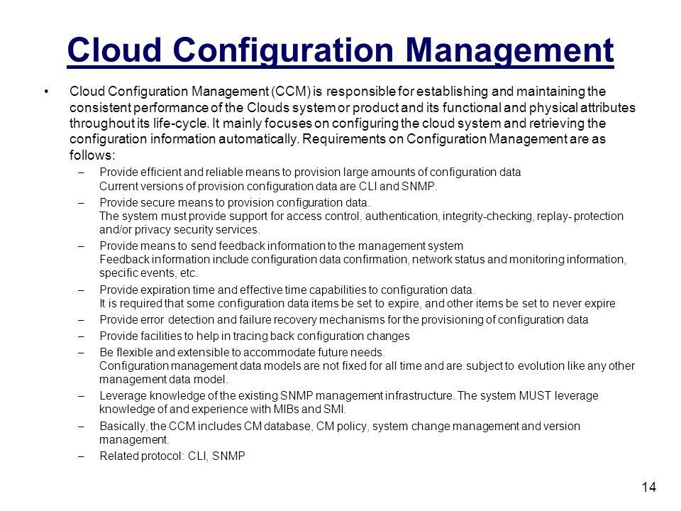 Cloud Configuration Management