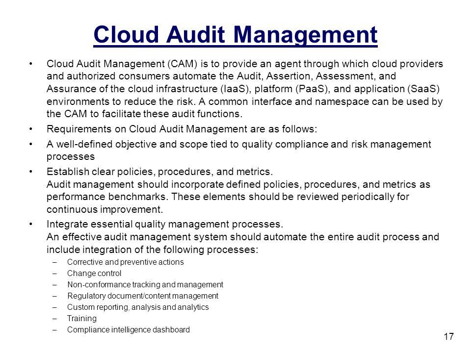 Cloud Audit Management
