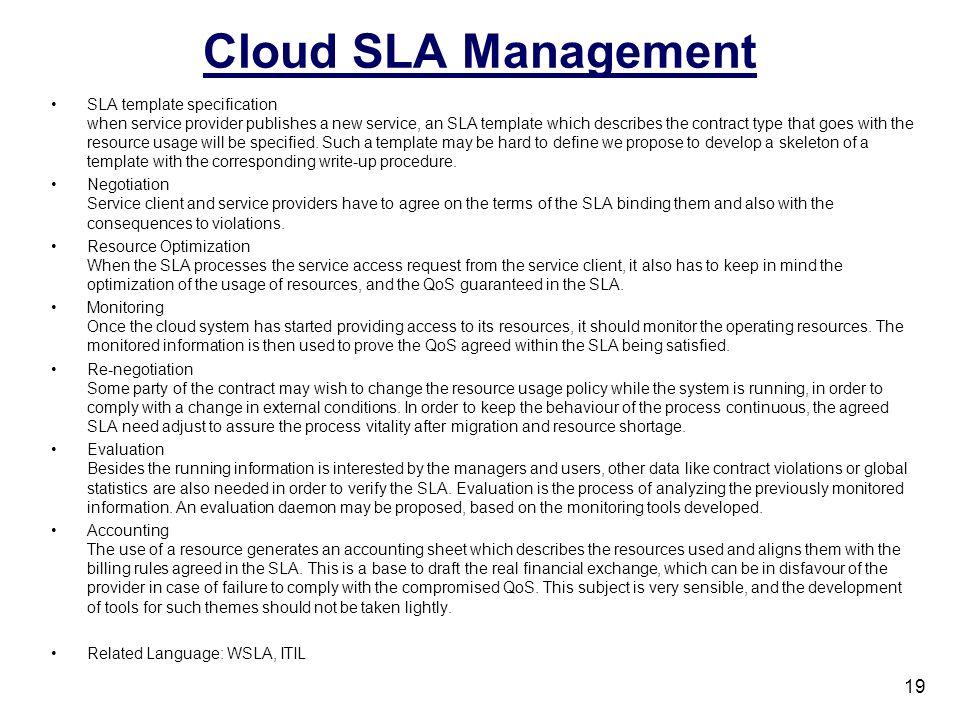 Cloud SLA Management