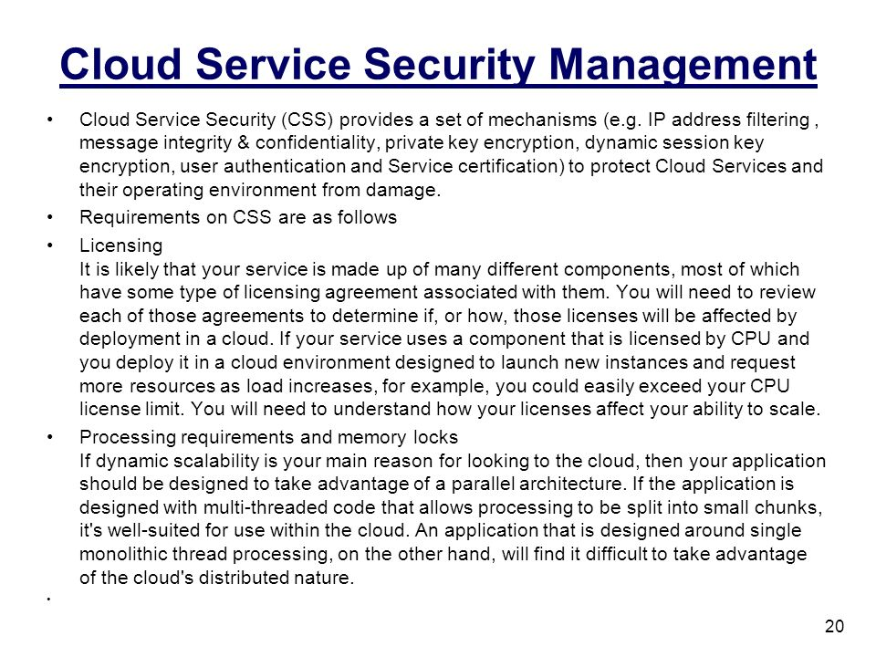 Cloud Service Security Management