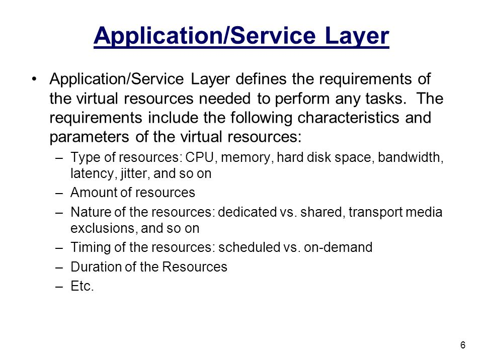 Application/Service Layer