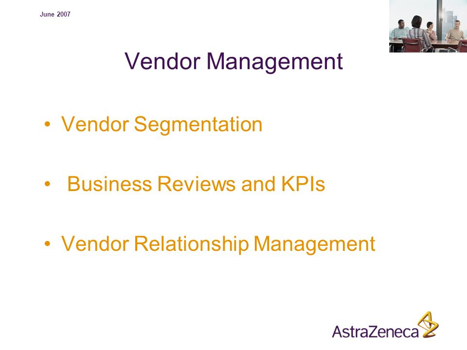 Vendor Management Vendor Segmentation Business Reviews and KPIs